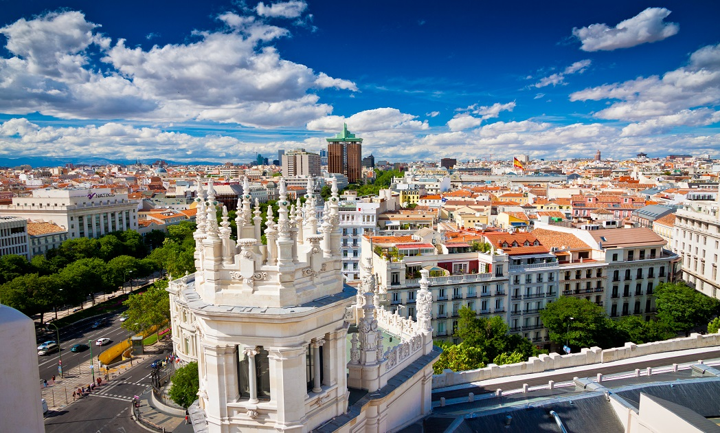 describe madrid city Latitude and longitude of spain, its capital city and selected cities, hemisphere position, absolute locations and relative locations - by worldatlascom.