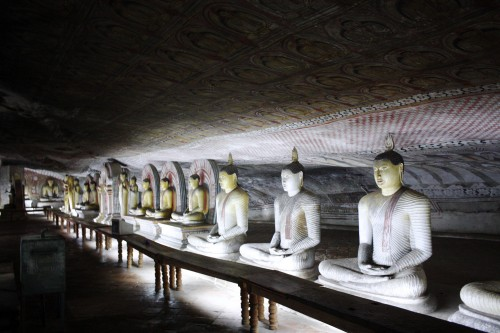 Treasures in the Dambulla Caves.
