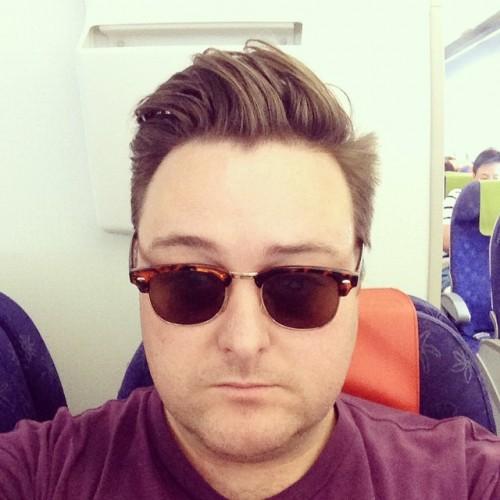 Screaming baby on the plane selfie