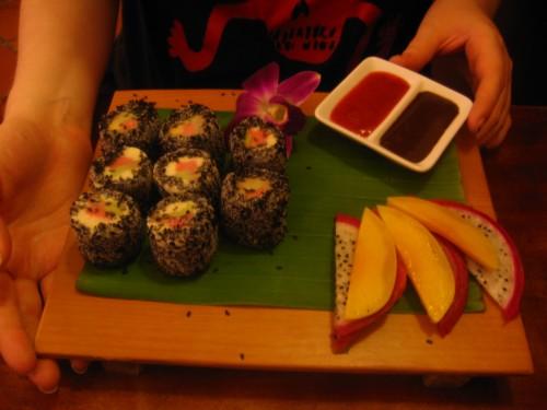 Fanny's take on sushi. Who needs fish?