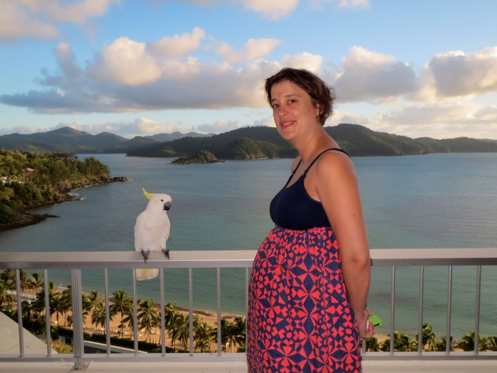 Cockatoo and I with the amazing view