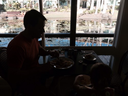 Brekky over the water