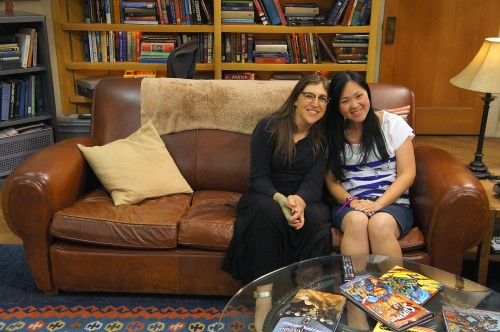 A dream come true, Jess gets her photo taken with Mayim
