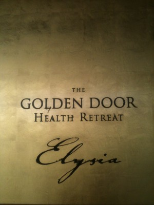 It really is a golden door!