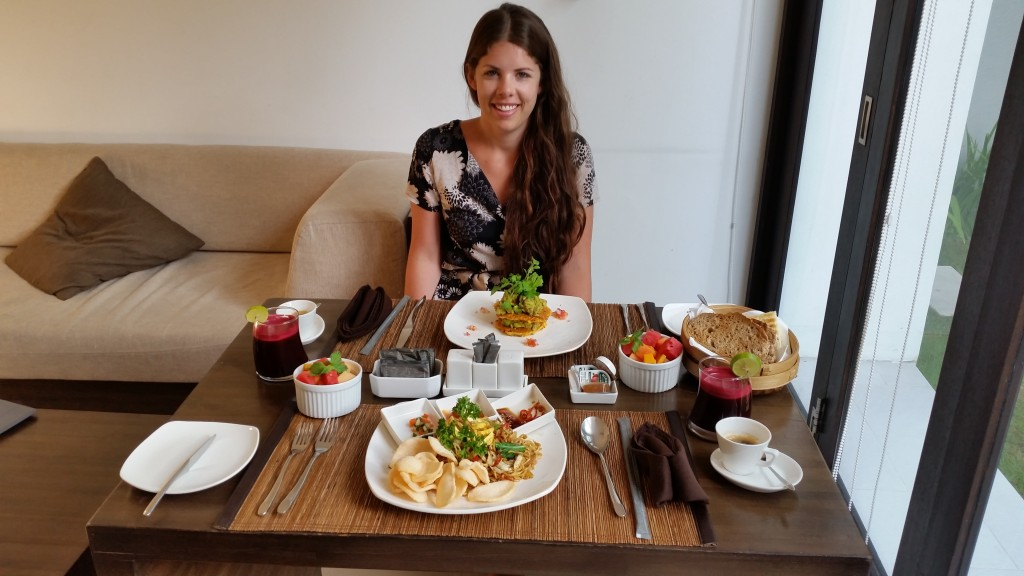 Breakfast at our villa – yum!