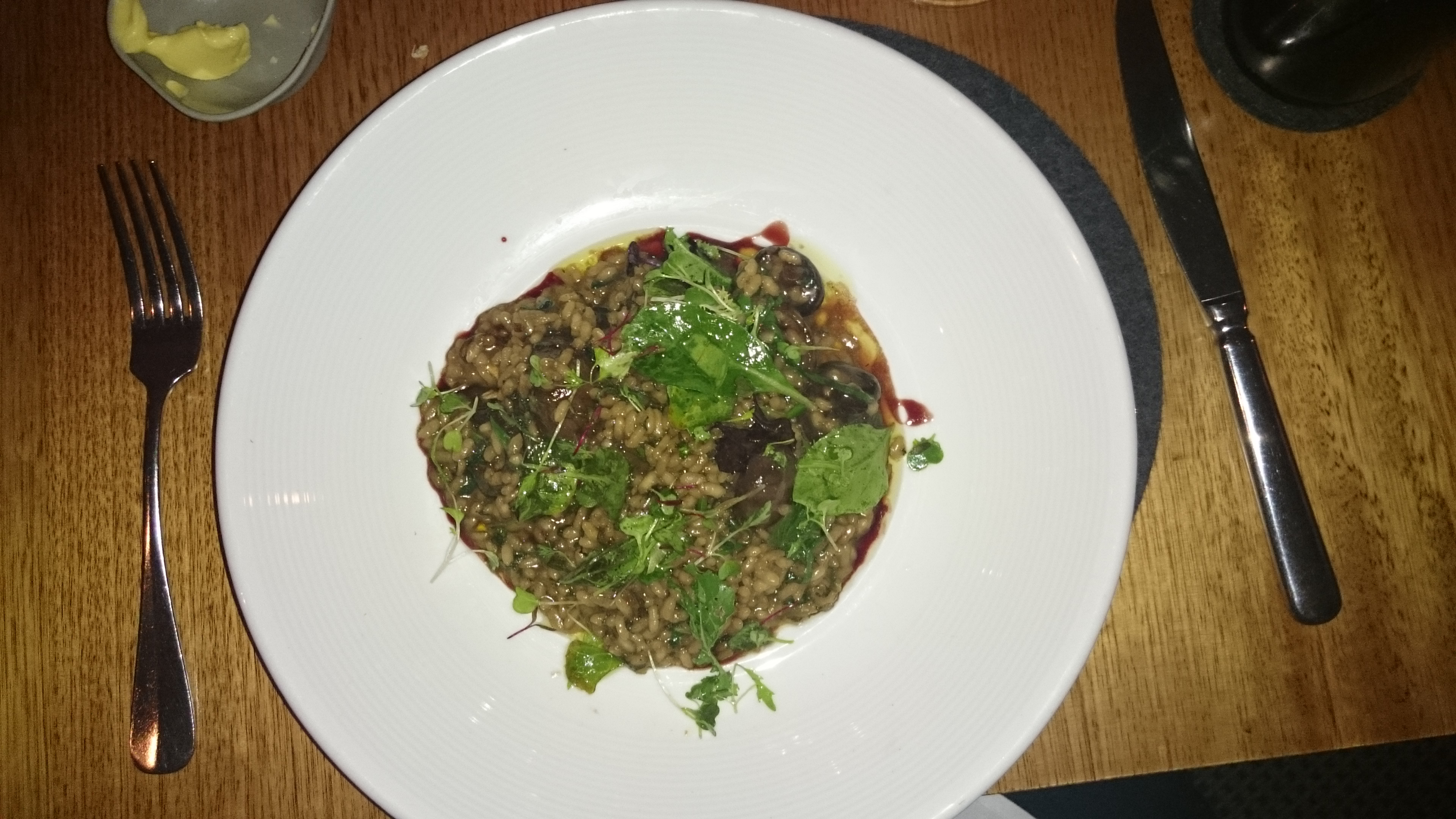 ... wild mushroom risotto with peas recipe yummly wild mushroom risotto