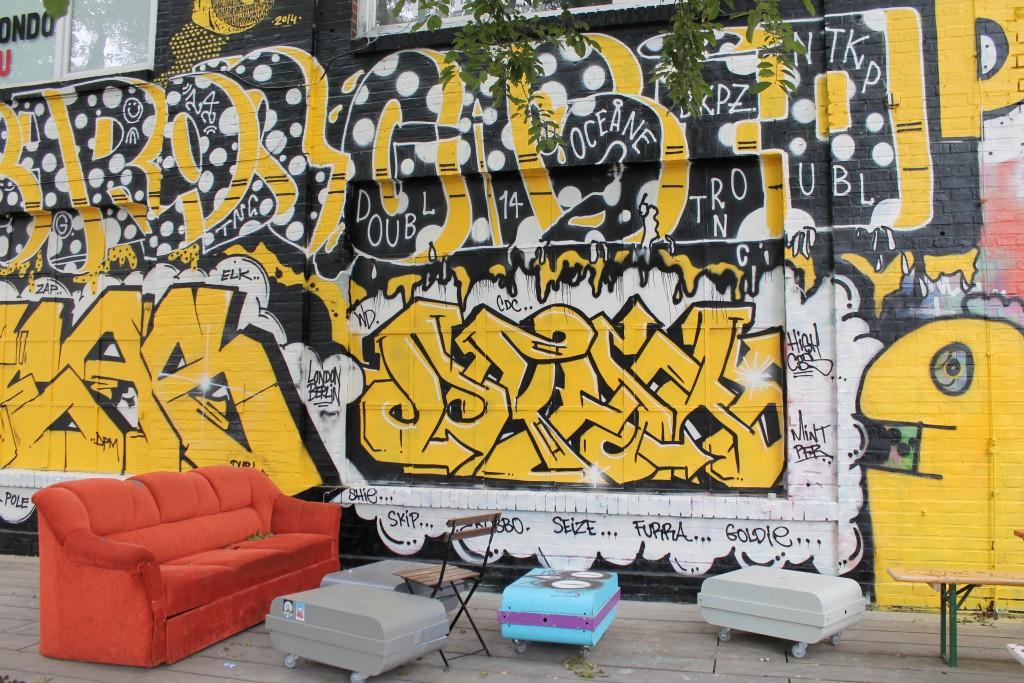 Take a seat beside the street art in Kreuzberg