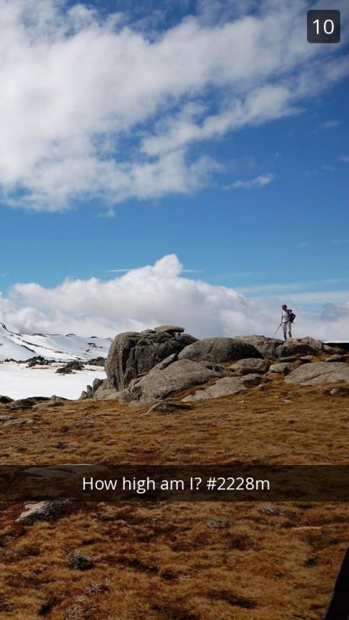 Mount Kosciuszko Snapchat