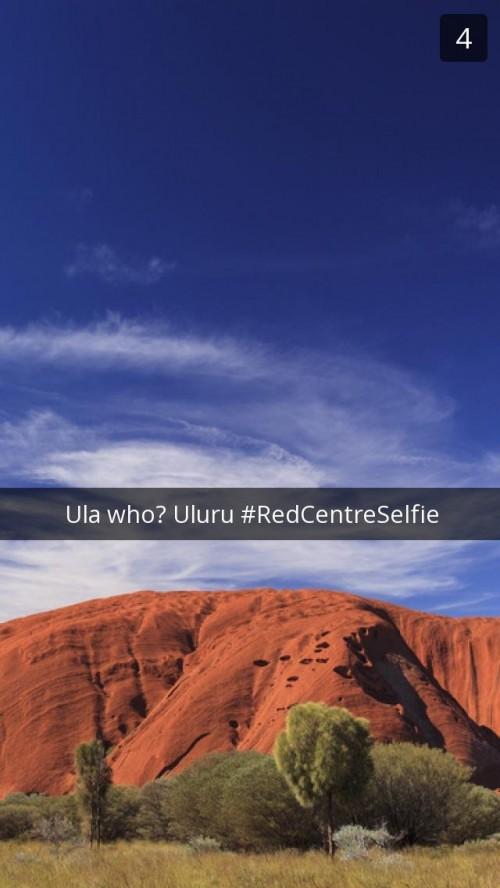 Uluru Snapchat