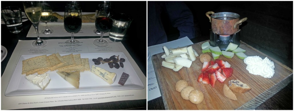 """Adventurous"" cheese and wine flight, chocolate fondue. I stand by my life choices."