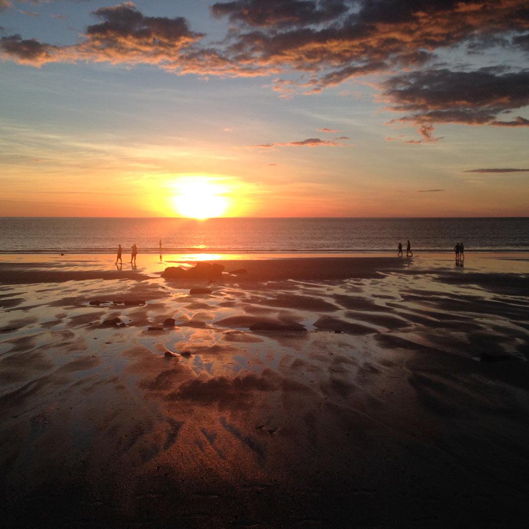 Broome beach sunset