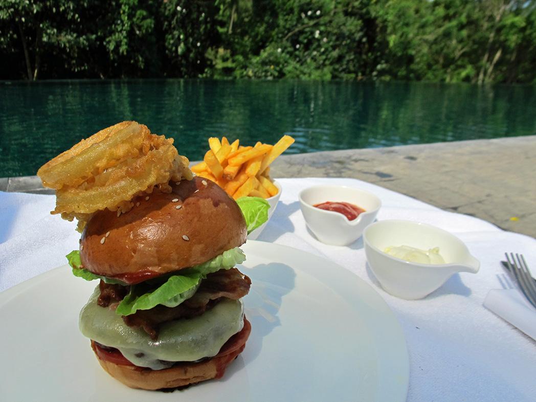 lunch by the pool - Alila Ubud