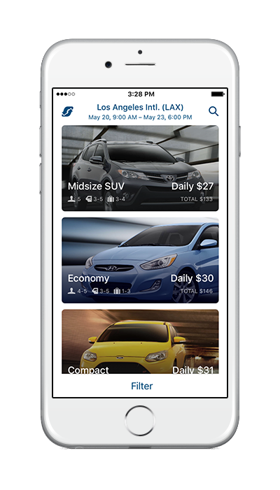 Rent a Car on the App