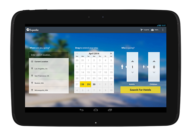 Expedia Hotel and flight Booking App