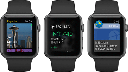 Apple Watch Expedia 智遊網 App