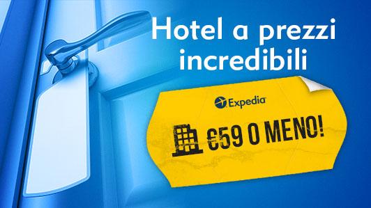 Fantastici hotel a 4* da €59 o meno!