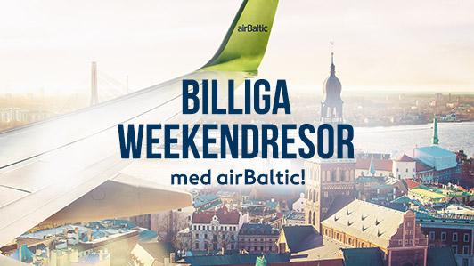 Specialerbjudanden med airBaltic