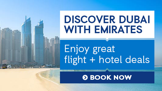 From luxury shopping to gourmet restaurants, experience what Dubai has to offer! Plus, find great flight + hotel deals with special fares from Emirates.