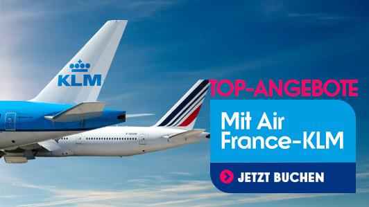 Jetzt mit Air France-KLM zu tollen Sonnenzielen fliegen