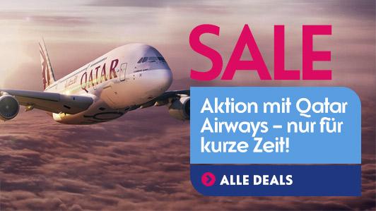 JANUAR-AKTION. Tolle Sonderpreise mit Qatar Airways