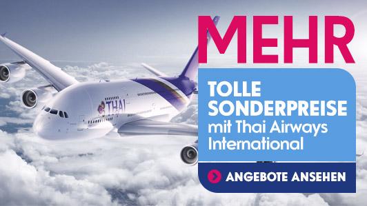 Günstige Flüge nach Asien mit Thai Airways International
