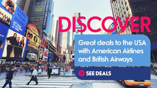Visit the USA with American Airlines and British Airways
