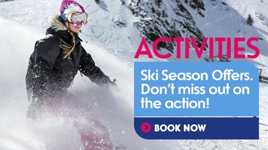Ski or snowboard, tickets and rental... Ski season is on!