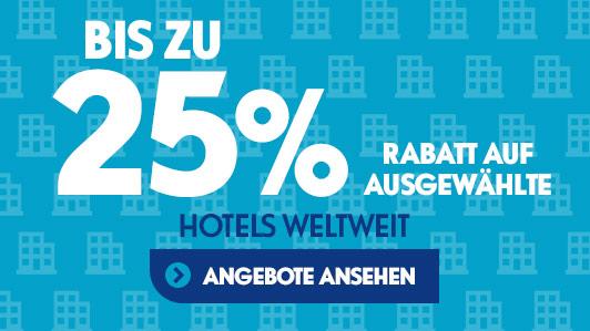 Wir haben mehr als 3500 Hotel-Deals zur Auswahl