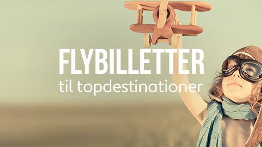 Flyrejser tur-retur til DKK 739 eller mindre!