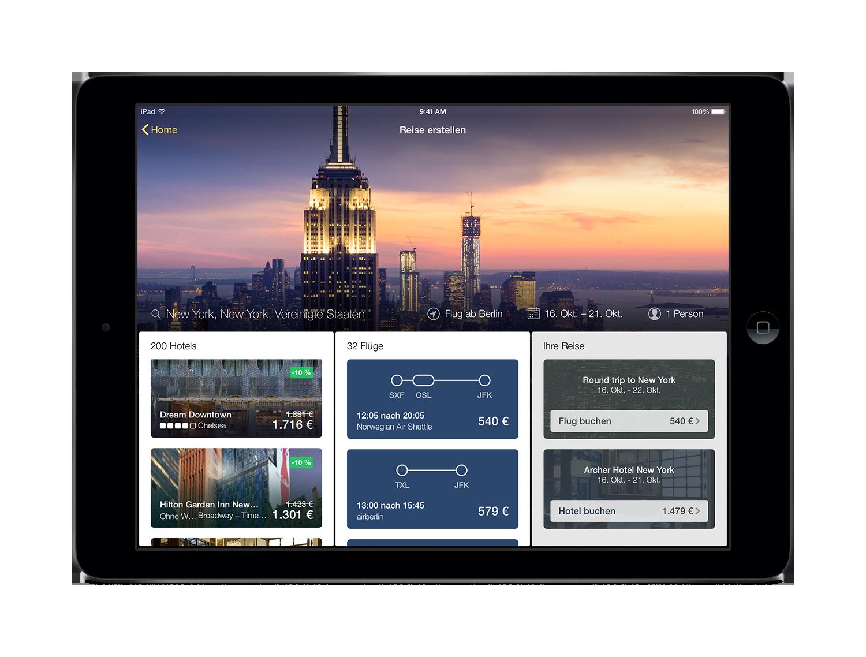 Willkommen bei der neuen Expedia-App für Tablet-Nutzer