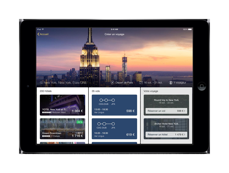 Lancement de la nouvelle appli Expedia pour tablettes