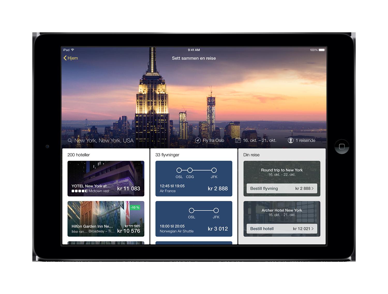 Vi introduserer Expedias nye app for nettbrett
