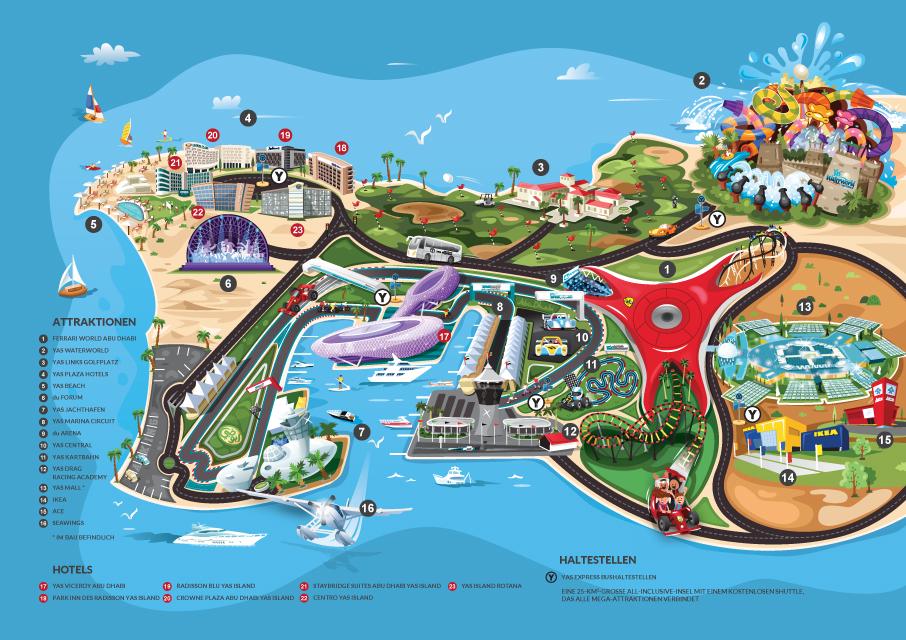 Yas Island Hotels With Yas Waterworld