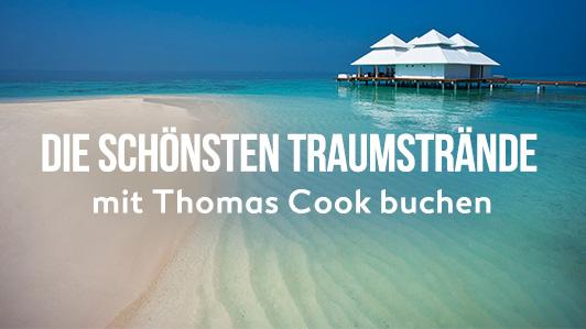 Strand, Palmen und blaues Meer