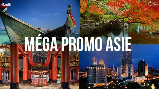 Méga promo spéciale Asie