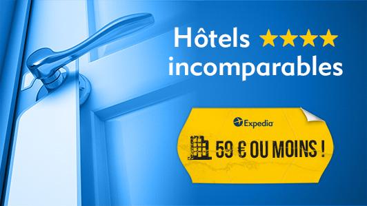 Hôtels 4 étoiles à 59 € ou moins !