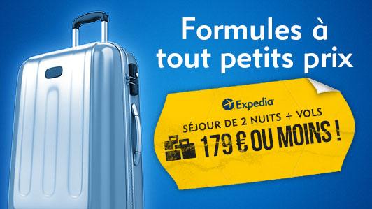 Formules vol + hôtel à moins de 179 € !