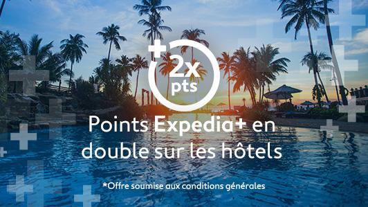 Double de points sur les hôtels