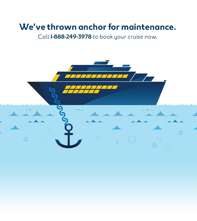 We've thrown anchor for maintenance.