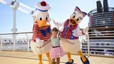 Donald and Daisy with a Friend on the Disney Dream