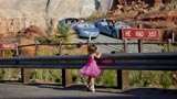 A Princess waiting for her turn in Cars Land