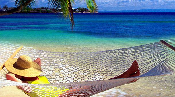lady in a hammock