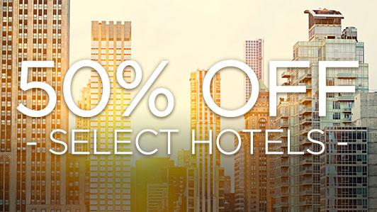 Happy Hour 50% Off Deals: 12 p.m. - 9 p.m. CST