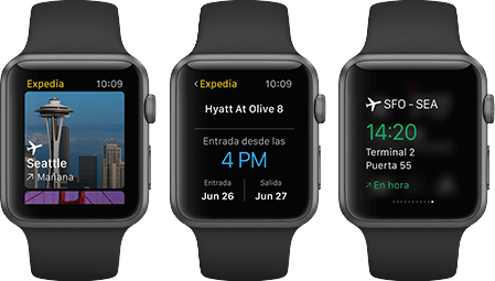 App de Expedia para Apple Watch