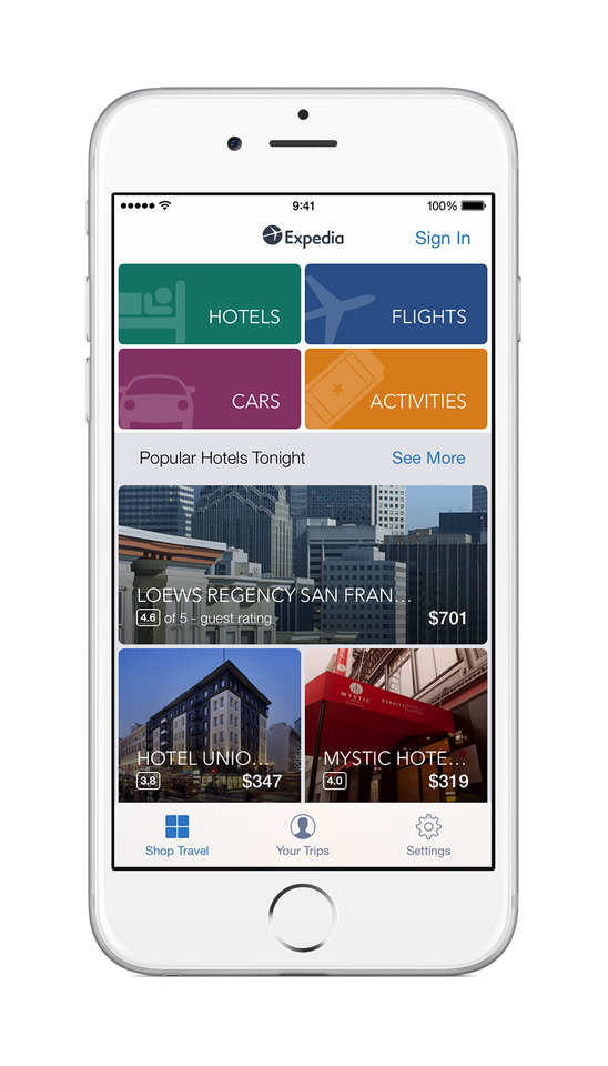 Expedia Travel &Navigation Androidn