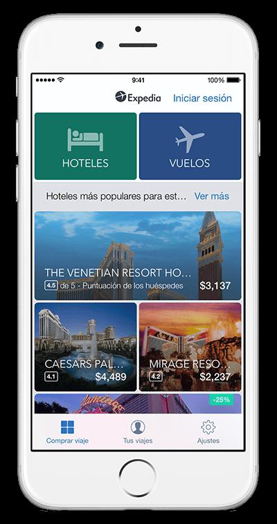 Aplicación móvil de viajes  Descarga el app de viajes para tu iPhone ... 30be13fa758