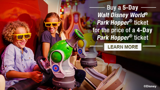 Limited-Time Offer on Walt Disney World<sup>®</sup> Theme Park Tickets