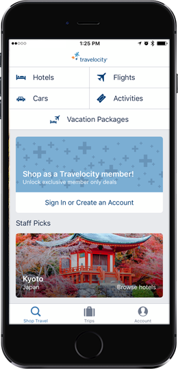 travelocity hotel booking app