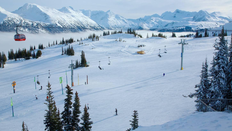 canada whistler adult ski equipment