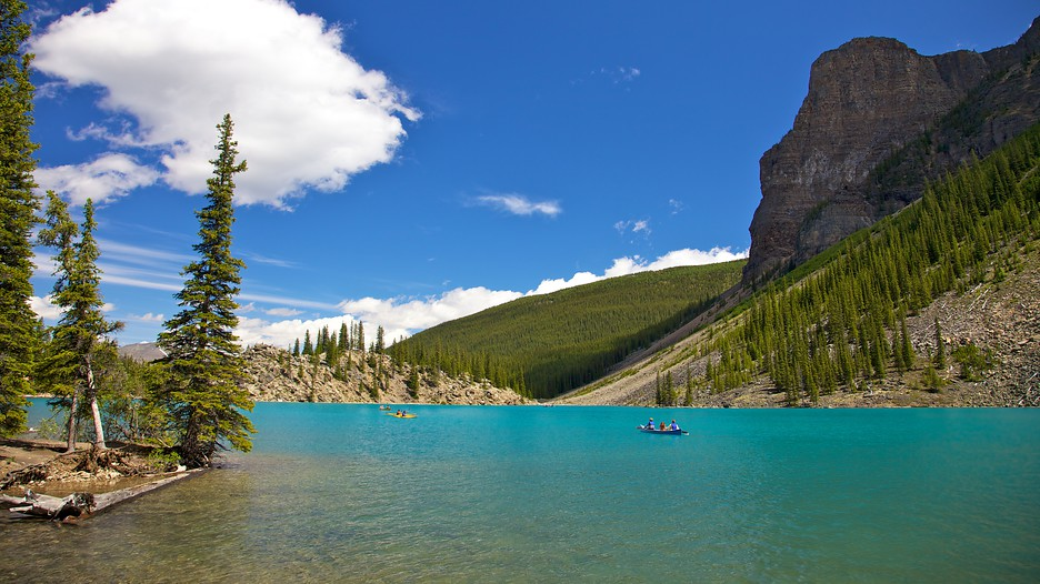 Moraine lake in lake louise alberta - Fotos tale mporaines ...